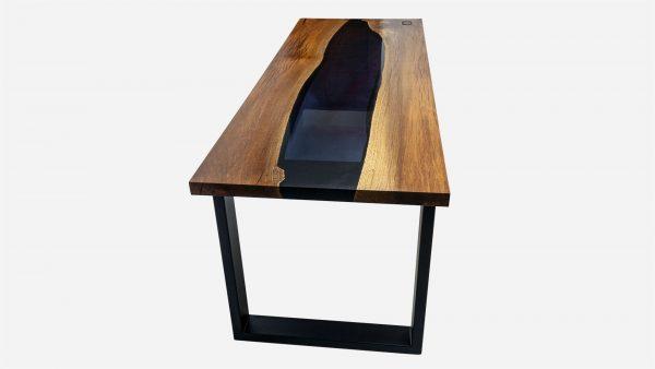 escritorio river de resina y parota vista lateral