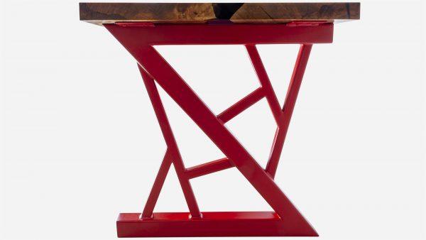 escritorio river de resina y parota pata roja ferrari
