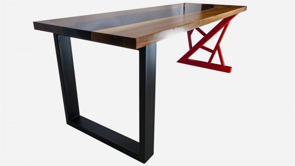 escritorio river de resina y parota vista patas